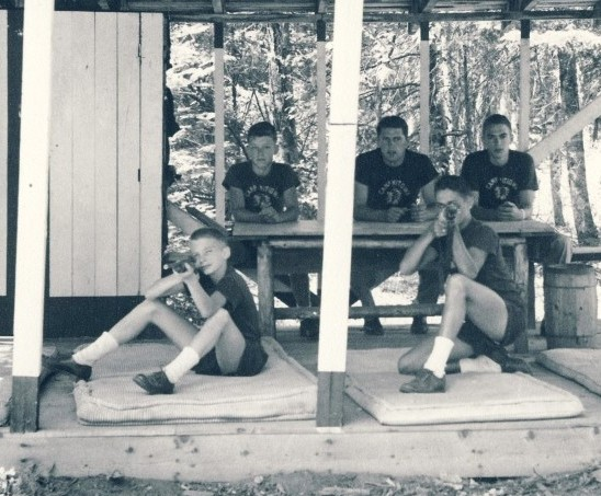 Riflery practice at Camp Mitigwa (1956)