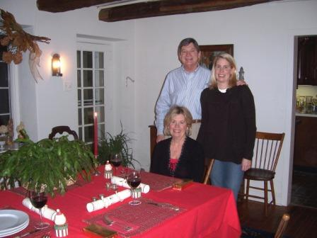Susan joins Jennifer   and me for Xmas dinner